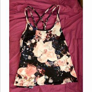 Loose fit floral activewear tank